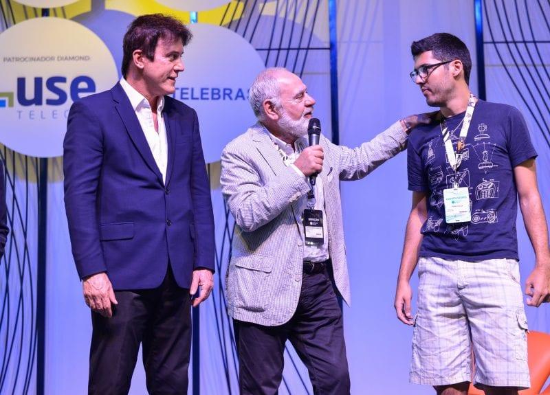Visita do governador Robison Faria ao Campus Party de São Paulo