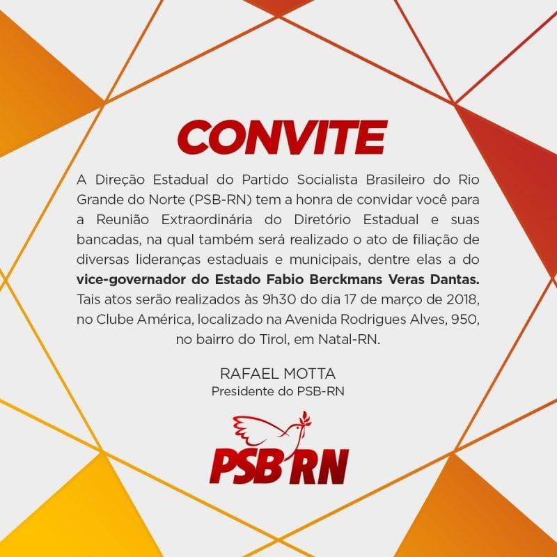Ato de filiação de Fábio Dantas ao PSB será sábado no América