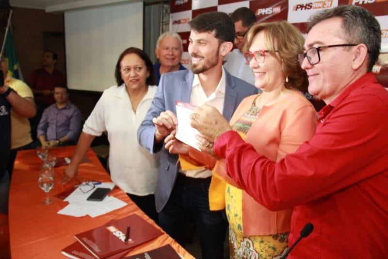 PHS do RN emite nota e diz que vai fazer aliança na majoritária com o PT de Fátima Bezerra
