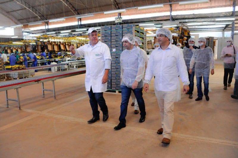 Fábio Dantas, José Vieira, Rafael Motta, Ricardo Motta e Fafá Rosado visitam a maior produtora de melão do mundo