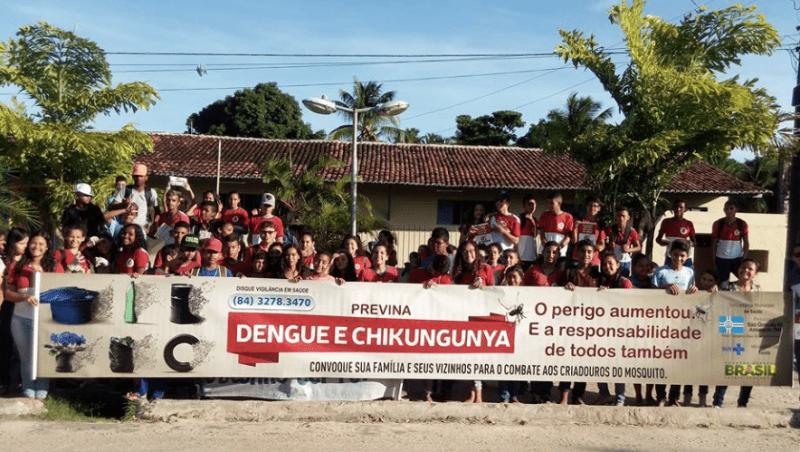 São Gonçalo: Caminhada contra a dengue é realizada em Alagadiço Grande