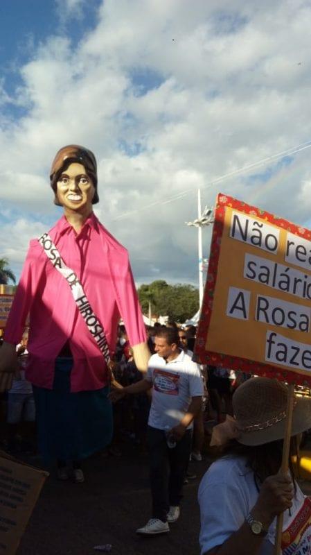 Protesto nas ruas de Mossoró contra Rosalba Ciarlini