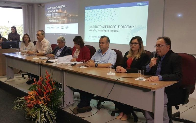 Deputado Rogério Marinho leva executivos da Microsoft e Uber para conhecer o Metrópole Digital