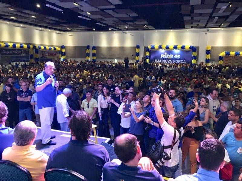 """""""PT no governo corrompeu e foi corrompido"""", diz Rogério Marinho na convenção do PSDB"""