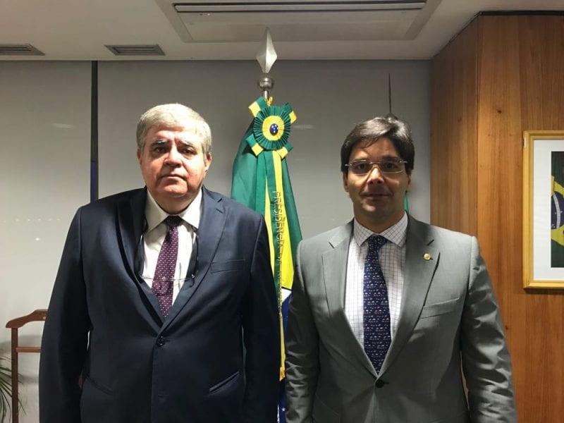 No Planalto, Deputado Felipe Maia solicita a Ministro liberação de Porto-Ilha de Areia Branca