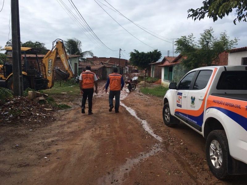 Defesa Civil monitora áreas alagadas no município de Touros