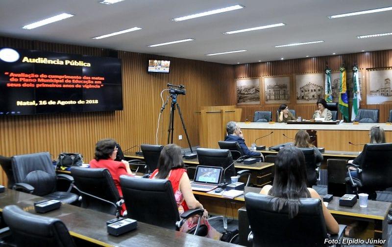 Avaliação do Plano Municipal de Educação é debatida em audiência pública