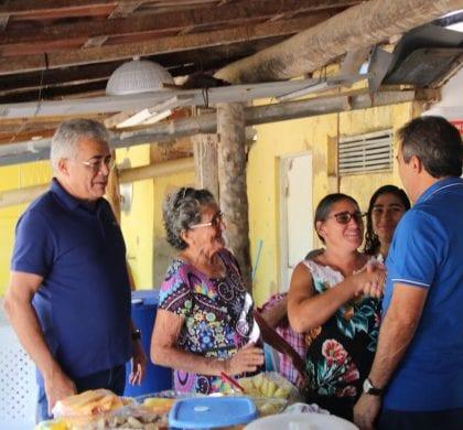 Vice de Robinson Faria, Tião Couto cumpre agenda em bairros de Mossoró