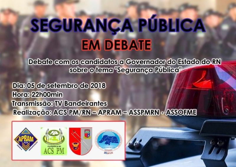 Associações militares promoverão debate sobre segurança pública com candidatos ao Governo