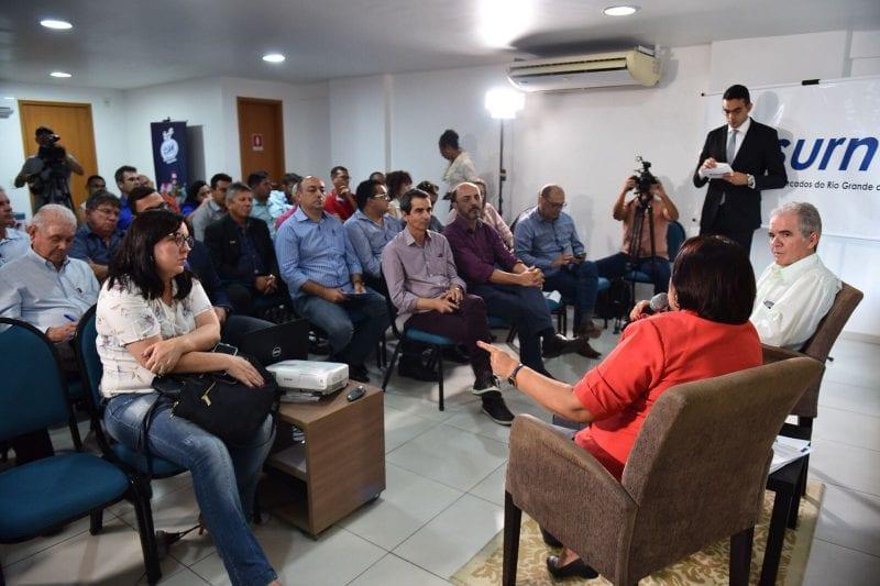 """""""Esperem de mim compromisso, seriedade, transparência e responsabilidade"""", disse Fátima para empresários na Assurn"""