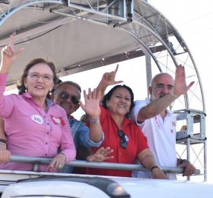 Fátima Bezerra conquista apoio de dois grupos adversários em Cruzeta