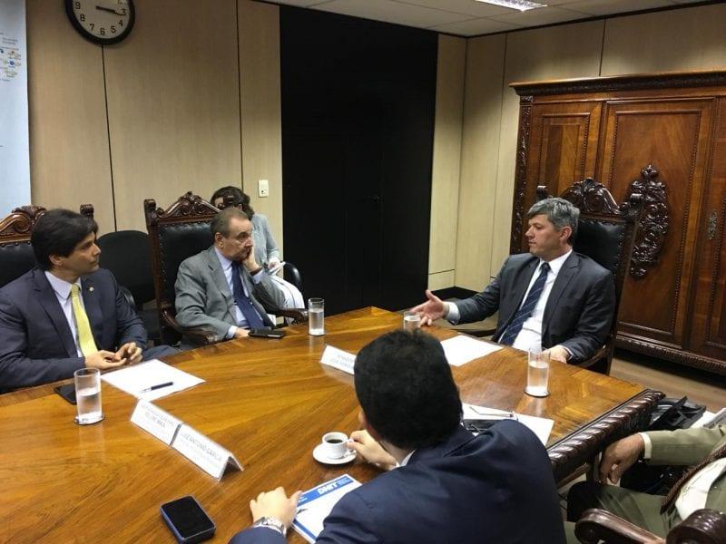 Deputado Felipe Maia e Senador José Agripino cobram do Ministro dos Transportes a liberação de recursos para obras da BR 101, Gancho de Igapó e Reta Tabajara
