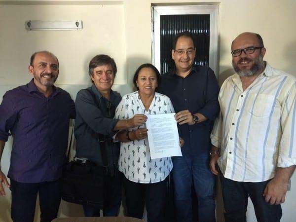 Fátima Bezerra recebe apoio do PSOL
