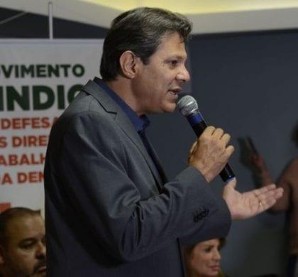 Campanha de Haddad deixa dívida de R$ 2,2 milhões