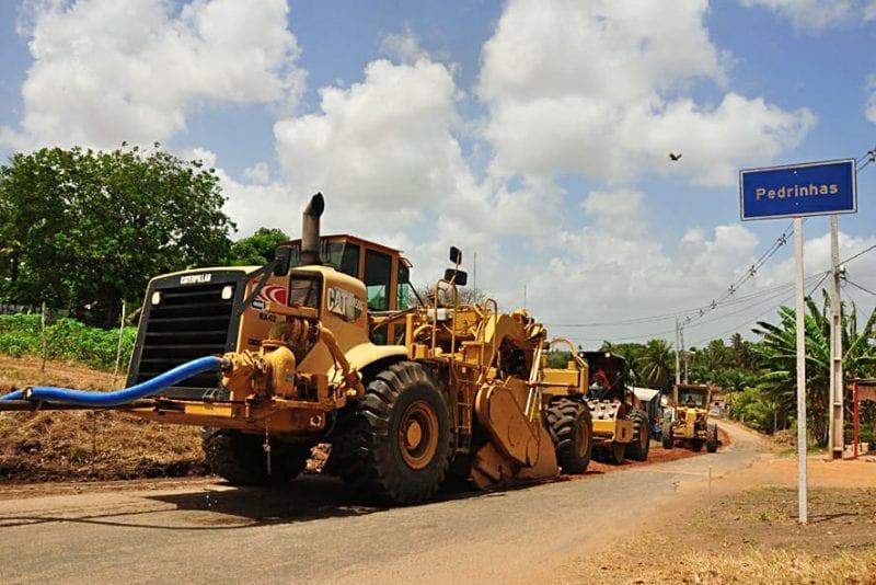 Governo começa recapeamento nos  distritos de Pedrinhas, Grutas, Boca da Ilha e Campinas