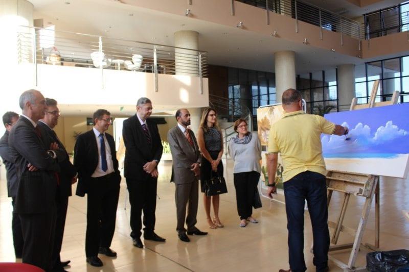 Corte Eleitoral visita exposição de Vagner Autuori na sede do TRE-RN