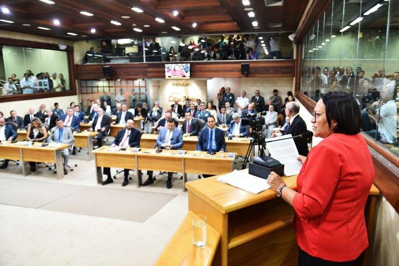 Governadora Fátima quer apoio do Legislativo e Judiciário para recuperação financeira do RN