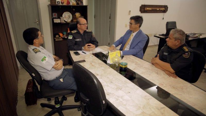 Coronel Azevedo visita PM e diz que seu mandato vai priorizar segurança