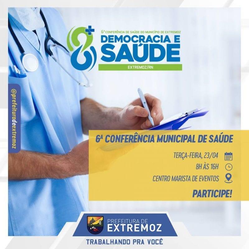 Conferência municipal de Saúde começa hoje em Extremoz