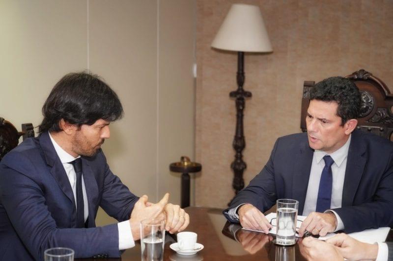 Deputado Fábio Faria se reúne com Sérgio Moro