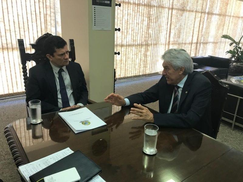 Deputado João Maia se reúne com o ministro Sérgio Moro