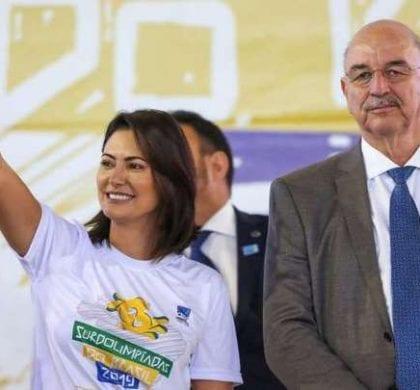 Michelle Bolsonaro anuncia Bolsa Atleta em Surdolimpíadas em Pará de Minas