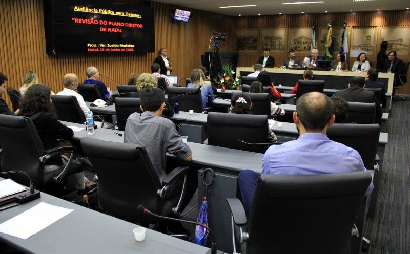 Câmara de Natal adianta discussão do Plano Diretor em audiência pública