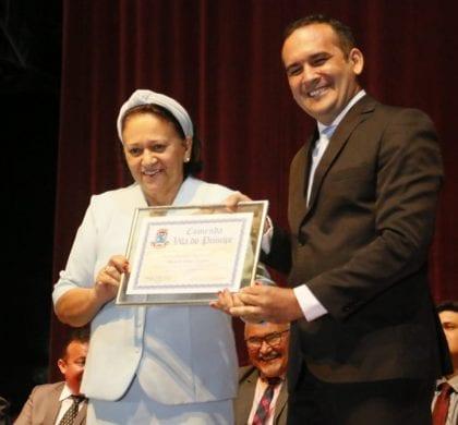 Governadora Fátima Bezerra é homenageada em Caicó