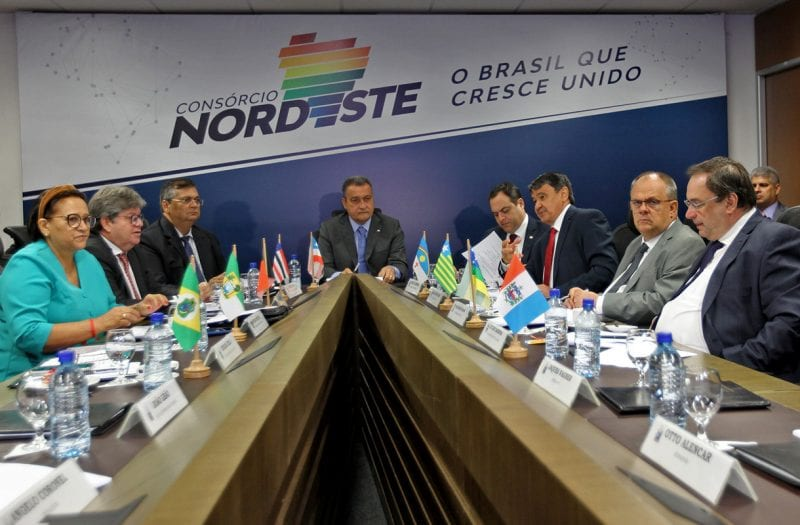 Governadores formalizam, em Salvador, o Consórcio Interestadual do Nordeste