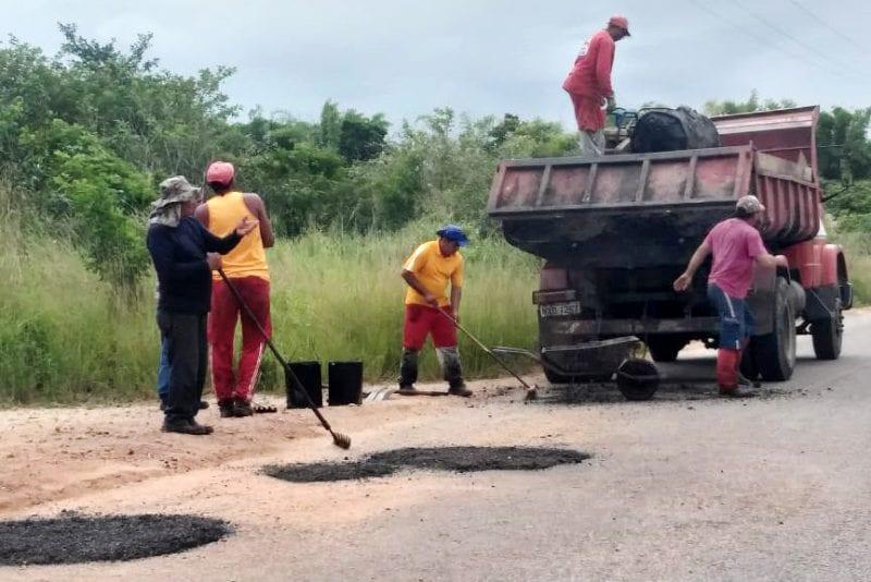 DER inicia recuperação da RN-269 entre Canguaretama e Pedro Velho a pedido de Ezequiel Ferreira