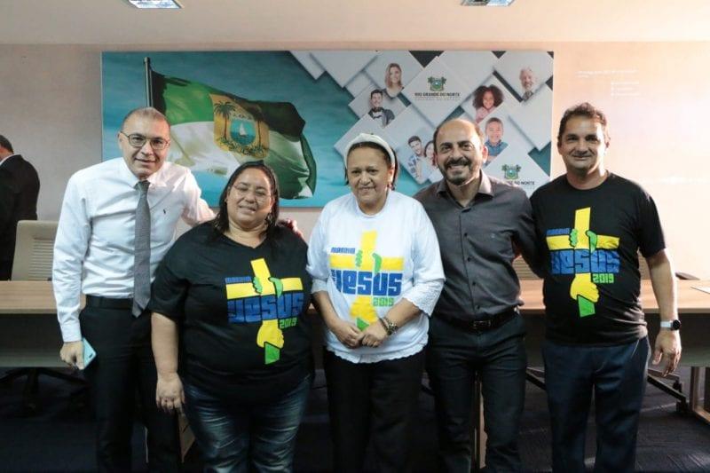 Governadora recebe representantes do evento Marcha para Jesus no Rio Grande do Norte