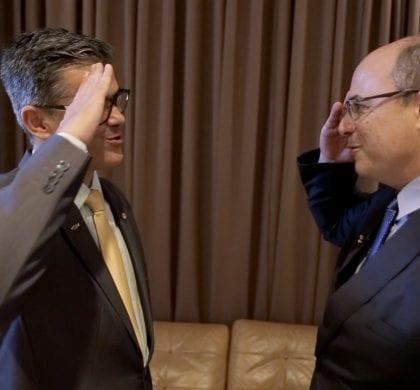 Governador Witzel convida e Coronel Azevedo irá para o PSC