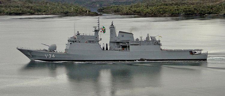 """Corveta """"Barroso"""" atraca no Porto de Natal antes de seguir para Missão de Paz no Líbano"""