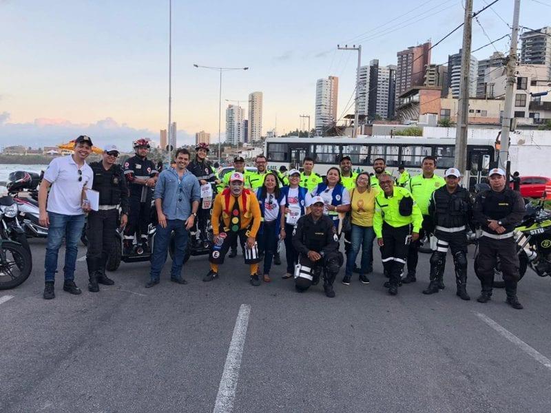 Detran e Projeto Vida no Trânsito comemoram o Dia do Motociclista com passeio