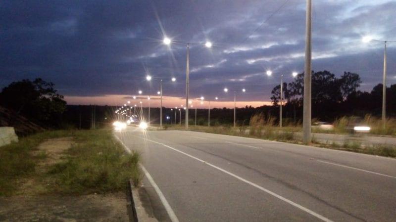 Governo conclui iluminação do 'prolongamento' da Prudente de Morais
