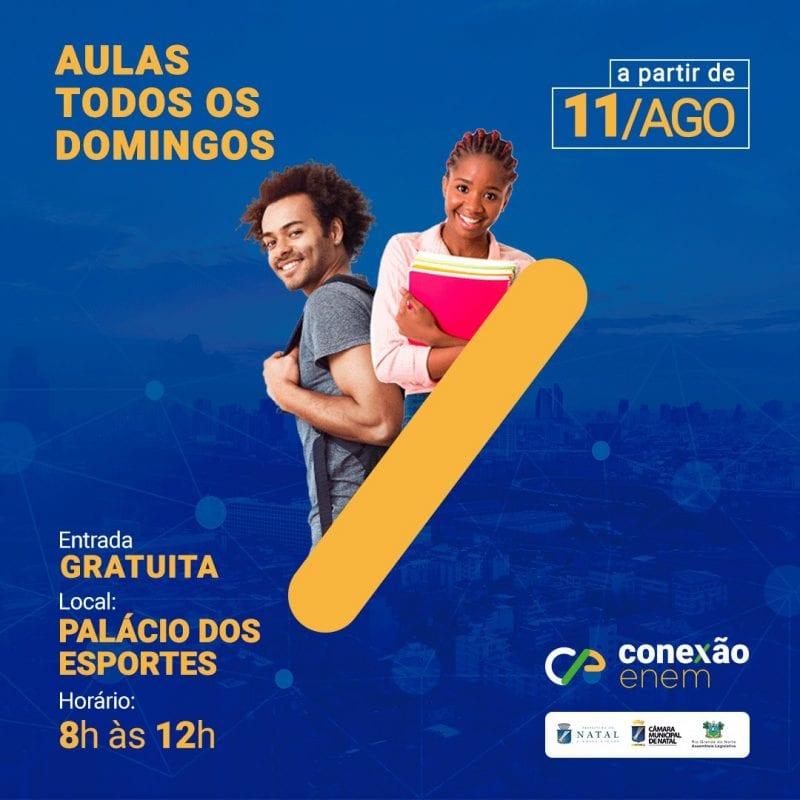 Conexão Enem inicia aulões gratuitos para o ENEM neste domingo