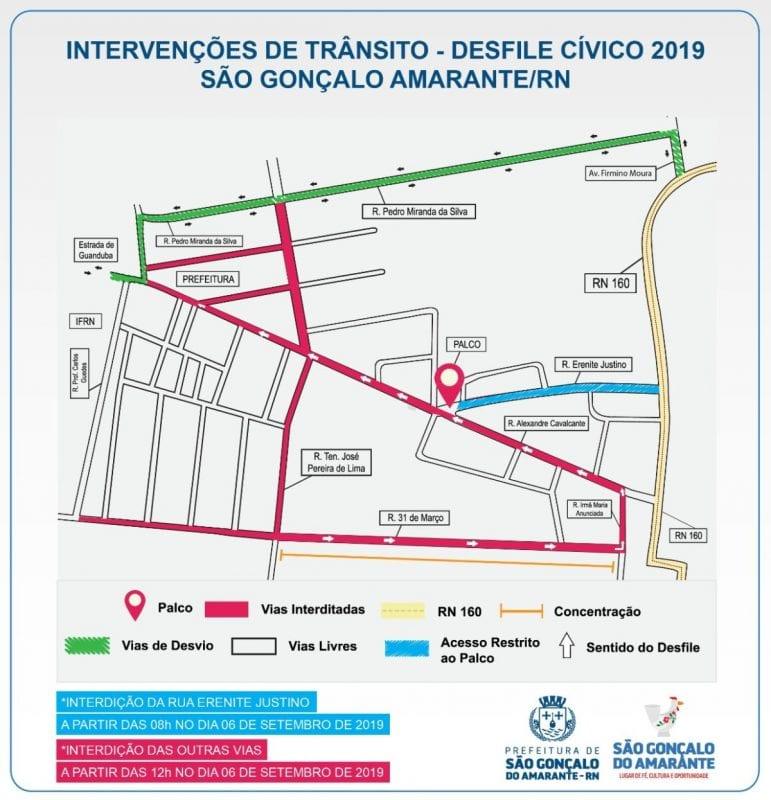 São Gonçalo fará desfile cívico hoje, esteja atento às mudanças no trânsito