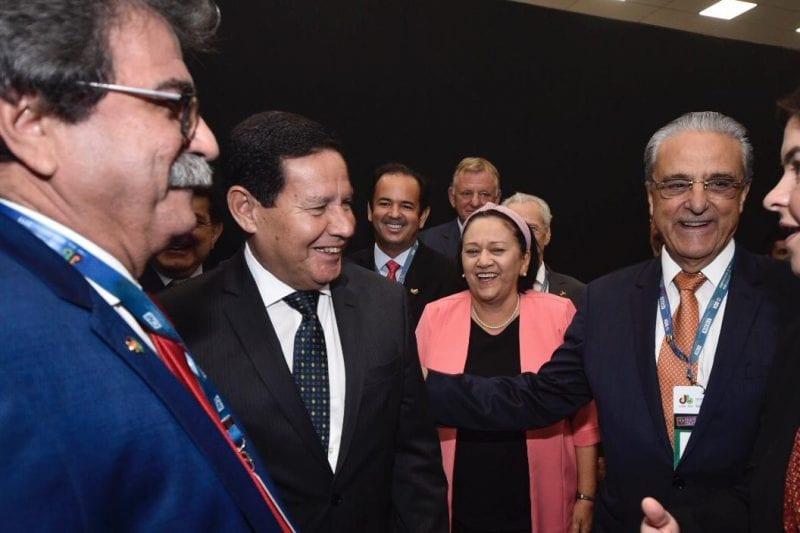 Governadora Fátima Bezerra e o vice-presidente Hamilton Mourão