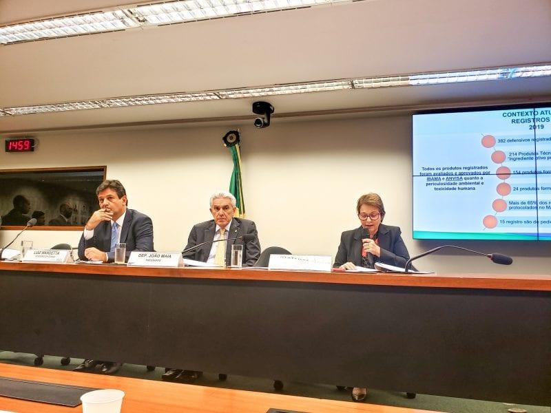Deputado João Maia debate sobre novos agrotóxicos na CDC com participação de ministros e presidente da Câmara