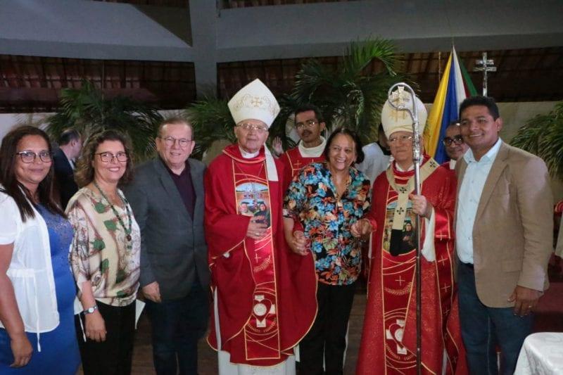 Políticos na celebração dos mártires de Cunhau e Uruaçu