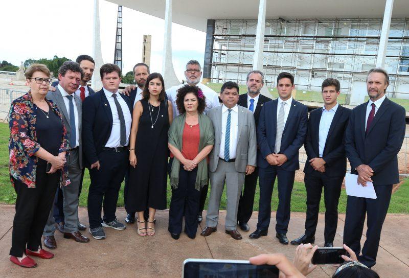 Brasília- DF. 05-02-2020- Parlamentares de vários partidos protocolam pedido de impeachment do ministro da educação no STF.  Foto Lula Marques