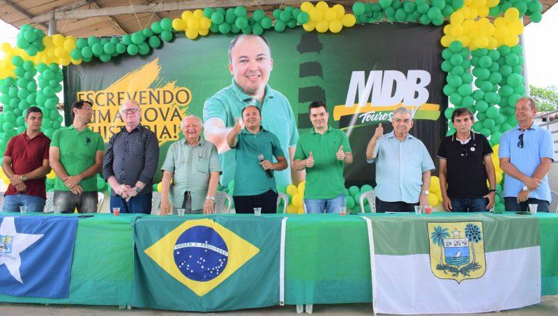 Garibaldi e Walter Alves participam de convenção do MDB em Touros