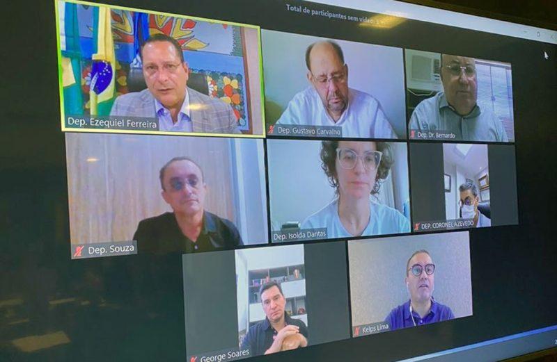 Em reunião por webconferência, líderes da ALRN aprovam pauta das sessões desta semana