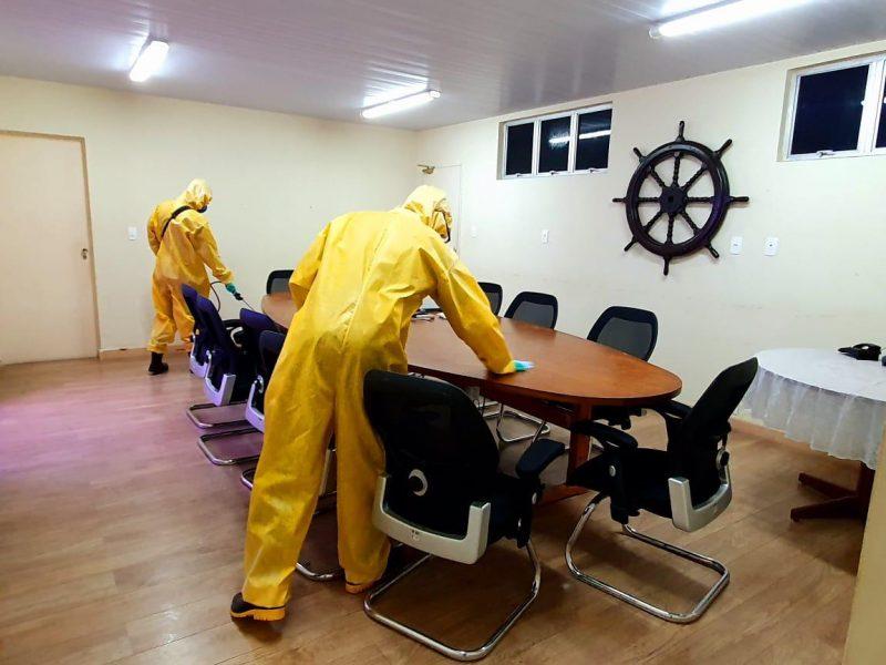 Instalações da CODERN passam por desinfecção por militares das Forças Armadas