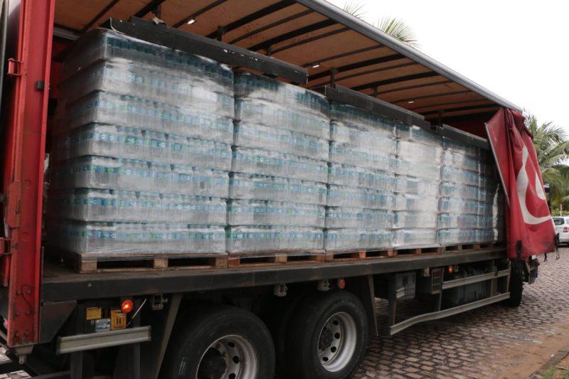 RN+Unido recebe 12 mil litros de água para profissionais da saúde
