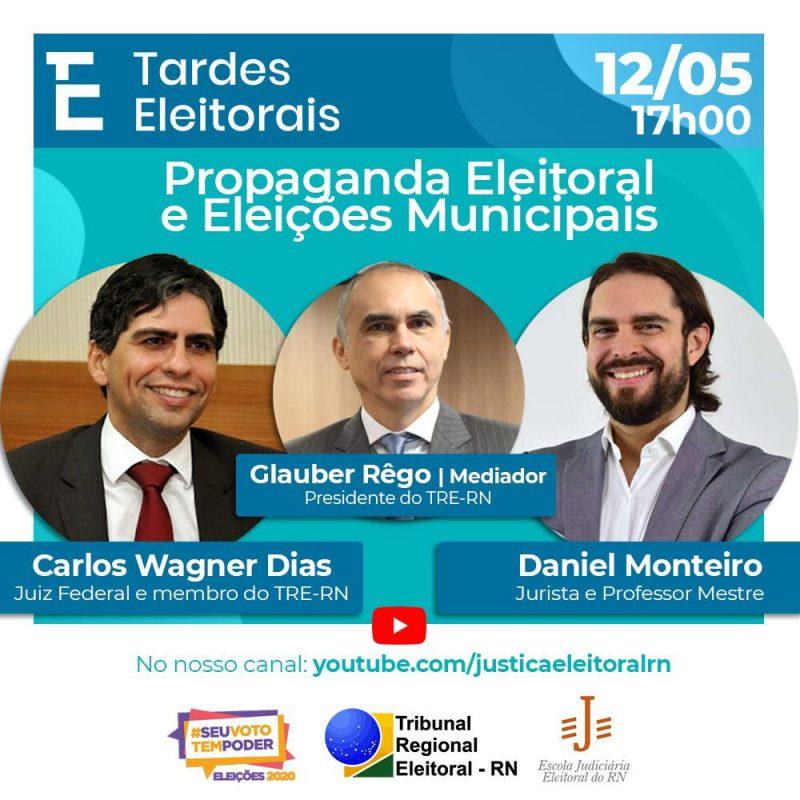 Escola Judiciária Eleitoral do TRE-RN  vai debater temas das Eleições 2020 no projeto Tardes Eleitorais