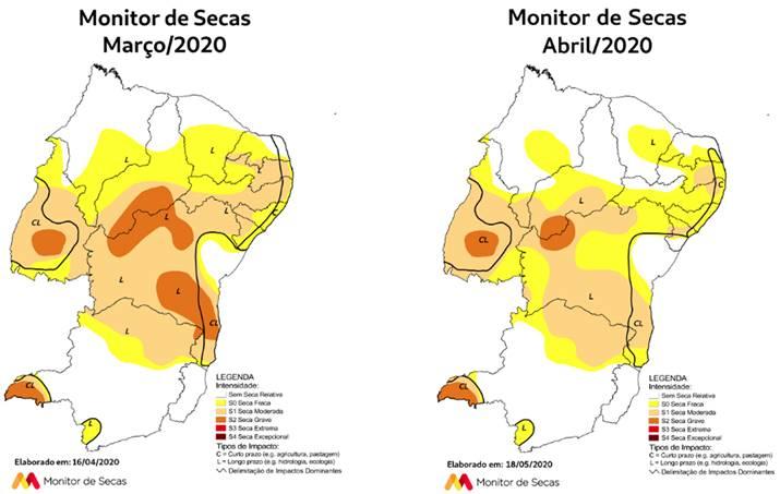 Monitor de Secas aponta redução área com seca no RN
