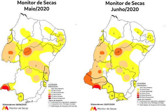 Monitor de Secas aponta melhor situação da seca no Rio Grande do Norte desde julho de 2014