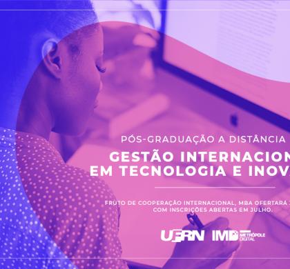 MBA em Gestão Internacional em Tecnologia e Inovação abre inscrições nesta segunda-feira