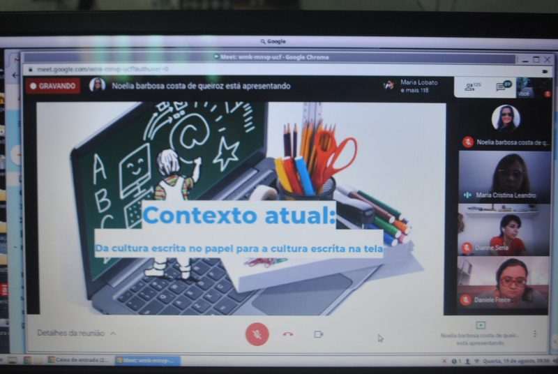 Formação online da Secretaria Municipal de Educação discute Ensino Remoto